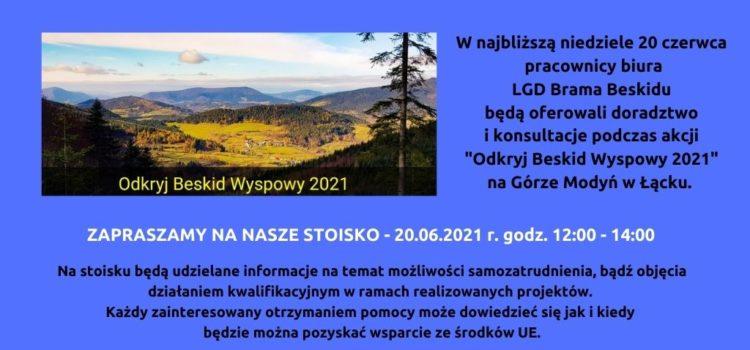 """""""Odkryj Beskid Wyspowy 2021""""  – Góra Modyń w Łącku – ODWOŁANE !!!"""